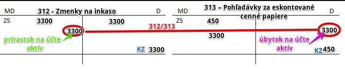 313 – Pohľadávky za eskontované cenné papiere